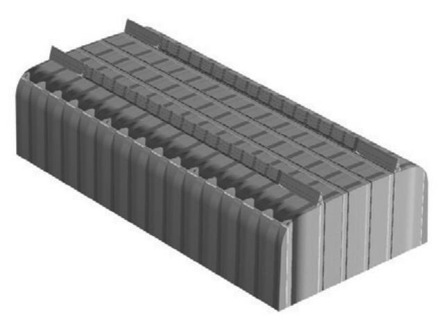 Elemento di alleggerimento geoSOL® in plastica riciclata